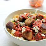 Feta and eggplant vegetarian meatballs