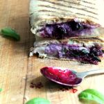 Blueberry mozzarella panini