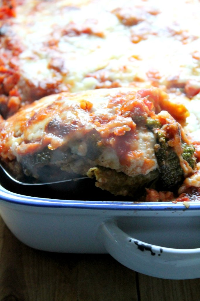 #vegetarian and #glutenfree - this is kind of like a stuffed cabbage casserole, but with the flavors of lasagne!