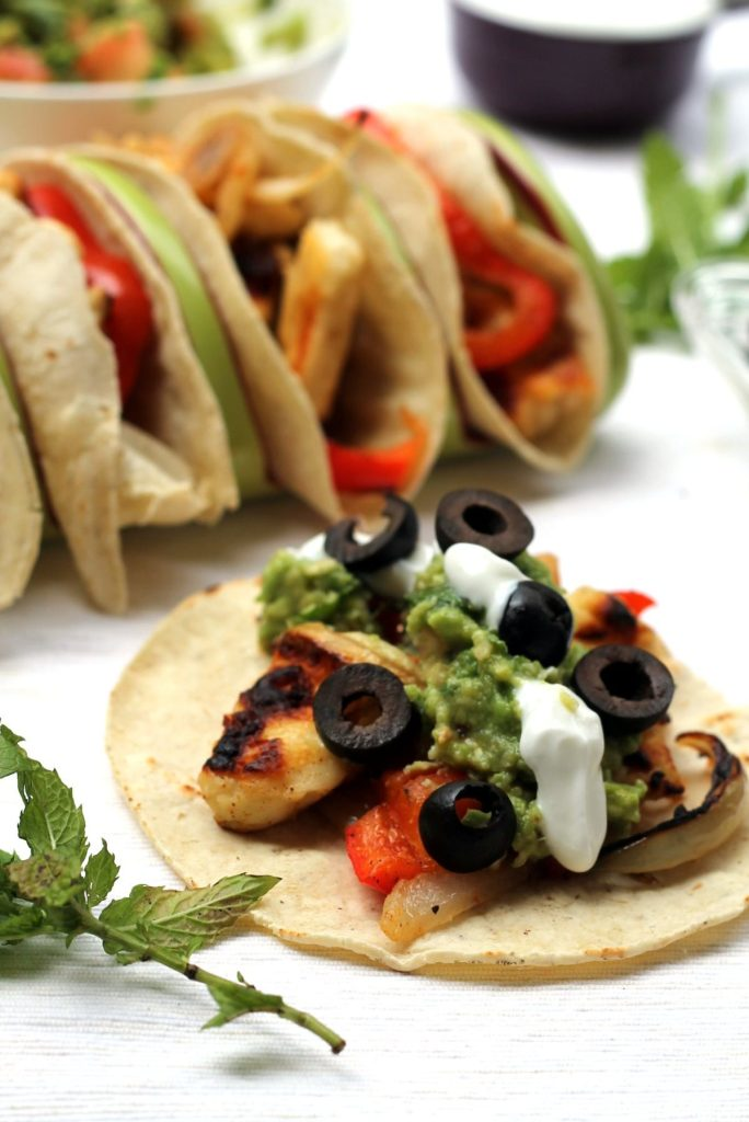 Greek inspired tacos, made on the grill - perfect veggie option at your next barbecue!