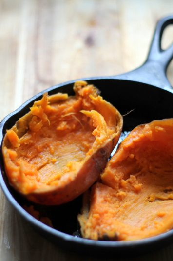 This stuffed sweet potato is a cinch to make and a wonderful vegetarian meal or side dish!