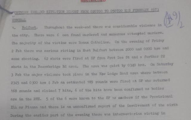 British Prime Minister, Edward Heath, and the New Lodge 6 Massacre