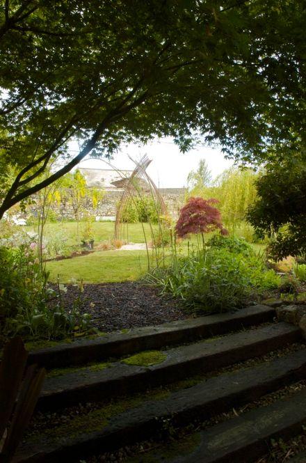 Entering a garden