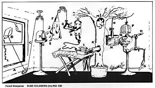 Rube Goldberg cause and effect