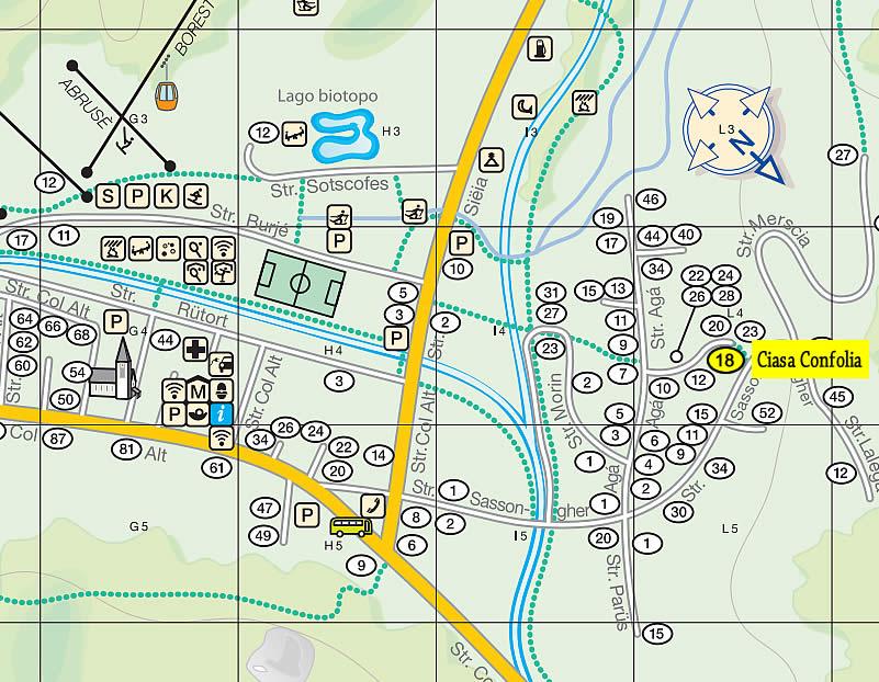 Mappa Corvara e Ciasa Confolia