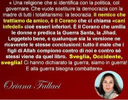 Risultati immagini per oriana fallaci frasi su islam