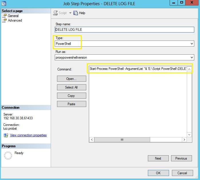 Como executar Script no Powershell v4 através do SQL Server Agent? (6/6)