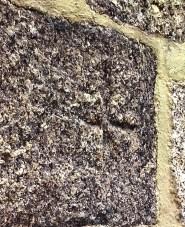 Sigla de canteiro na fachada lateral da Igreja de Meinedo