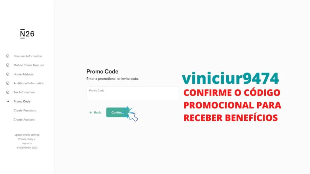 tela mostrando o passo 11 de como abrir conta no banco n26 portugal