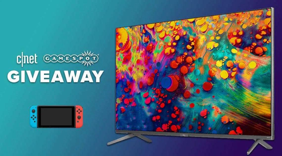 GIVEAWAY: Ganhe um Nintendo Switch e uma TV TCL 4K de 65 polegadas *