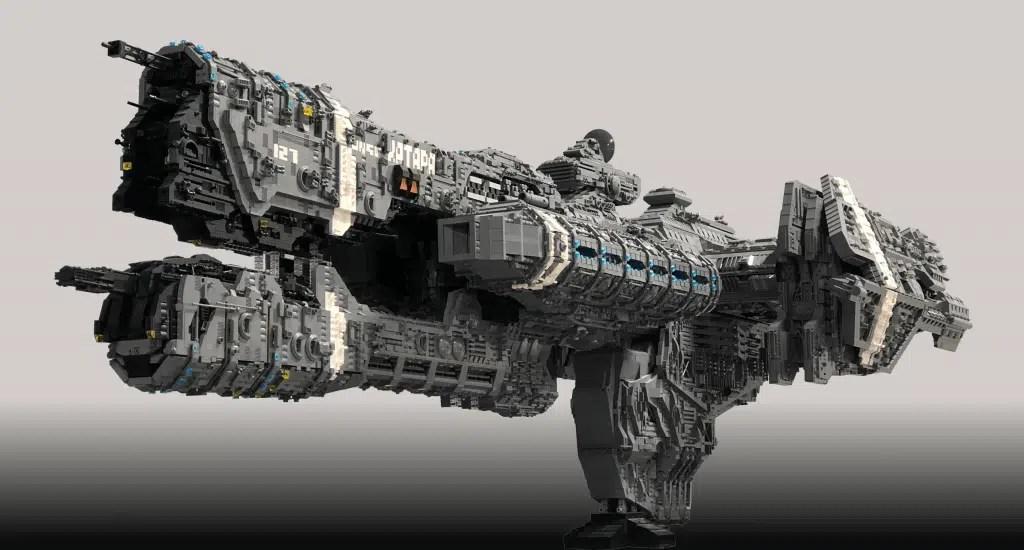 Esta fragata Halo, feita de 25.000 tijolos de Lego, levou 5 anos para ser construída