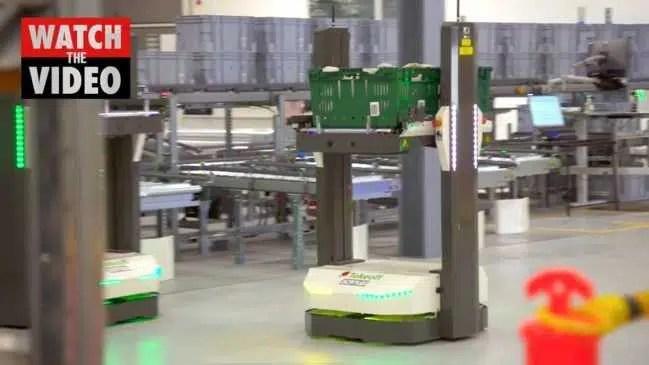 Lançamento da eStore automatizada Woolies em Melbourne