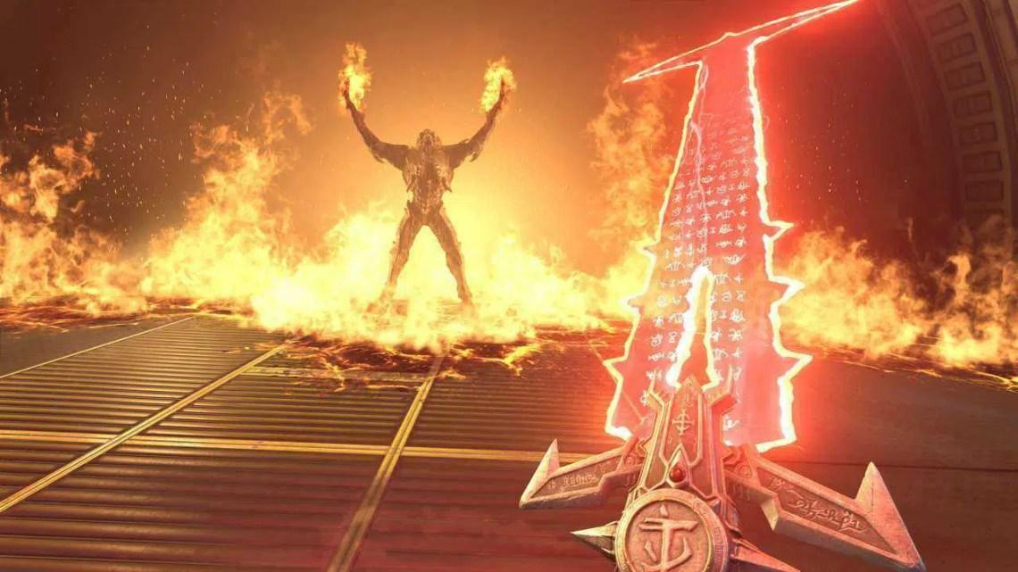 Aqui está Doom Eternal transmitindo em uma geladeira inteligente através do passe de jogo