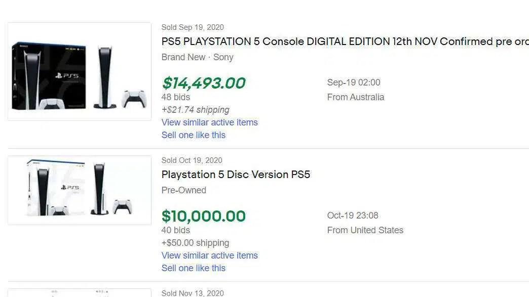 Os scalpers PS5 e Xbox Series X estão cobrando uma grande recompensa