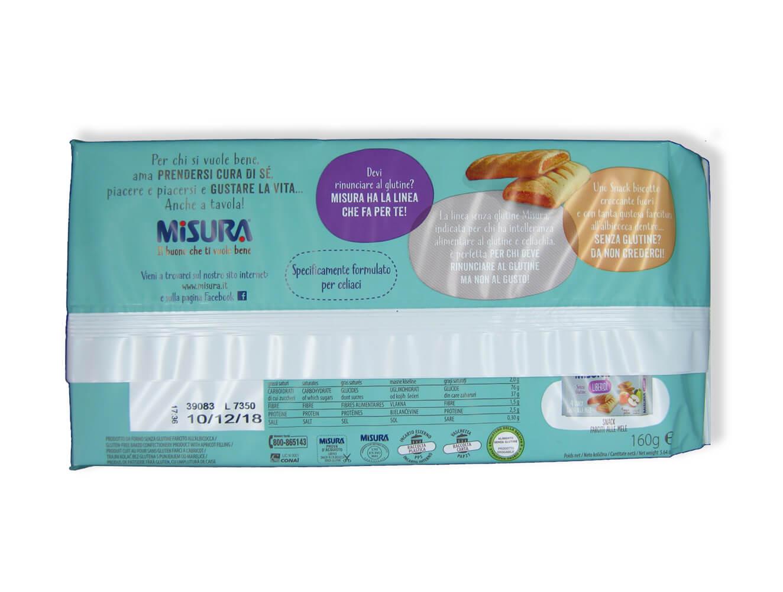 immagine snack albicocca Misura retro