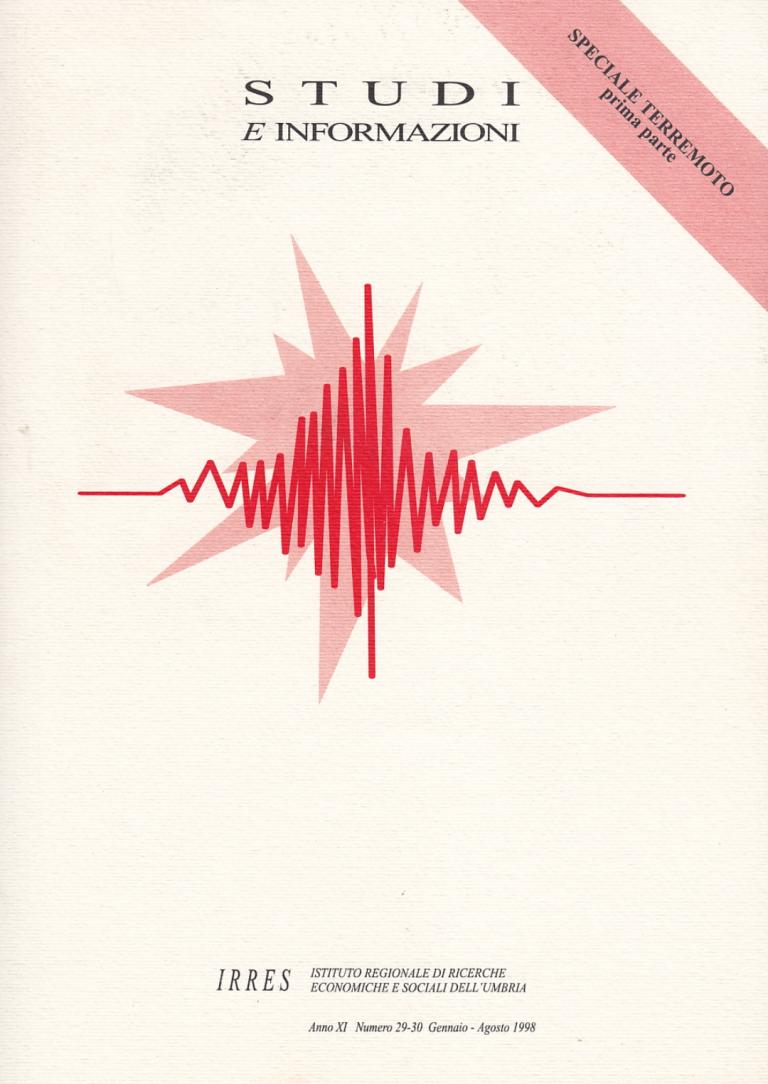 Luciano Giacchè IRRES terremoto 1998