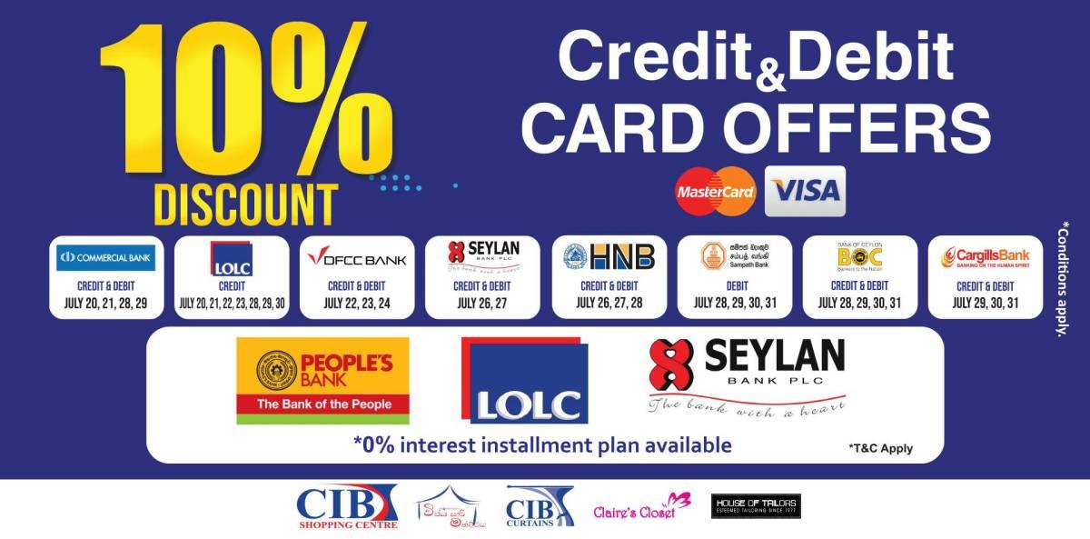 Bank Credit & Debit Card Promotion