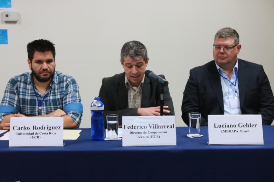 Representantes del IICA, EMBRAPA y CICA/UCR participaron del evento.