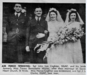 1943 30 Jan The Australasian Mum and Dad's wedding