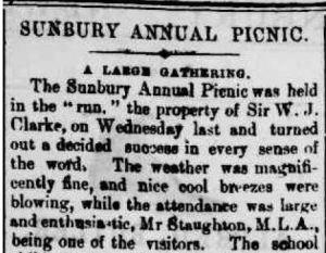 Sunbury picnic