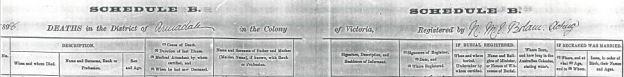 1898 Heading of Edward LEE's death certificate