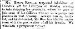 1866 Henry RICE leaves for Australia
