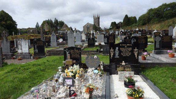 September 2014 St Gobnait's cemetery, Ballyvourney, Co. Cork Ireland
