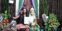 pengantin-mahadewa (Pengantin pria berkostum Siwa. (Facebook))
