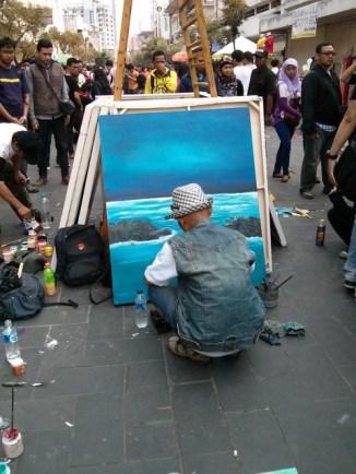 Diantara semua lukisan yang ada di sana mungkin ini yang paling realistis.