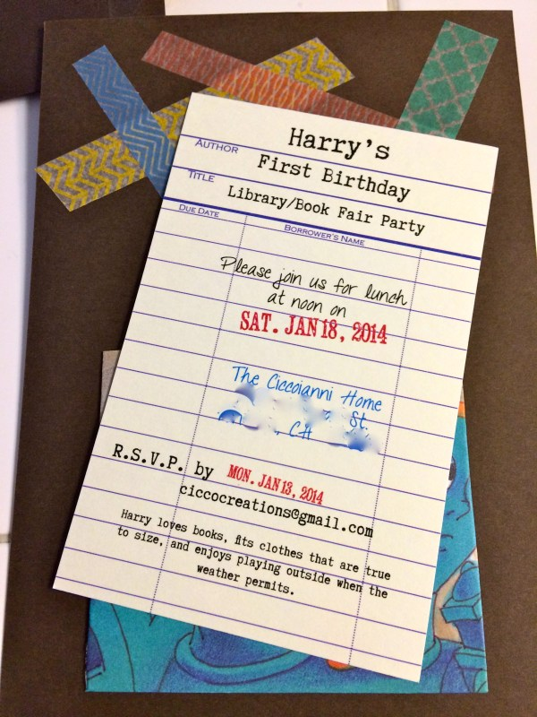 Library Themed Business Cards Tutoring Card