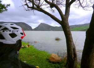 Cycling Around Rosamarina Lake