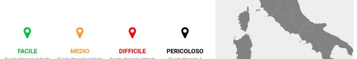 mappa itinerari cicloturismo rent a bike italia e sicilia
