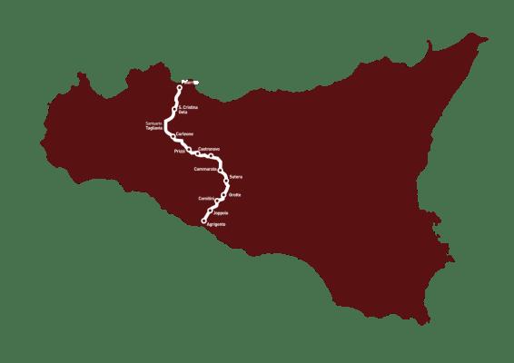 avventura in bici in Sicilia sulla Magna Via Francigena
