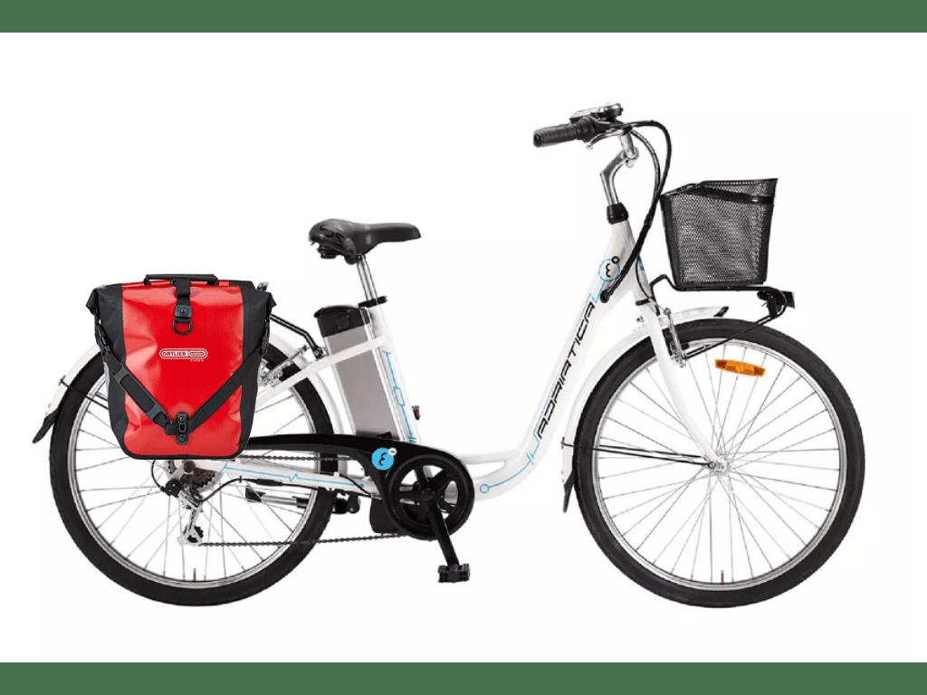 Adriatica e-city bike mit Ortlieb
