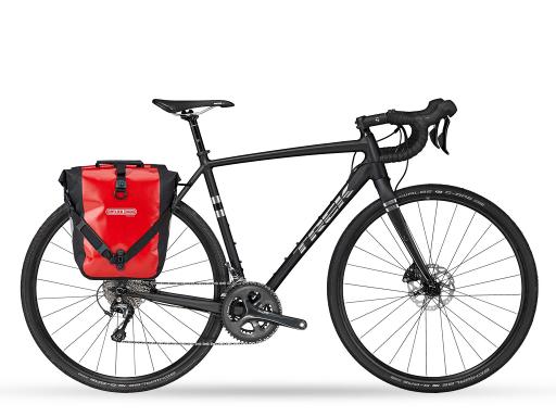 Treck Checkpoint AL4 - Gravel bike Sicily - Ortlieb panniers