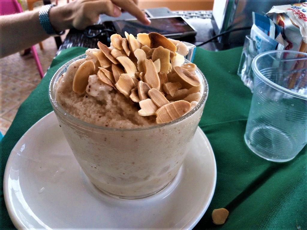almond granita in Siracusa