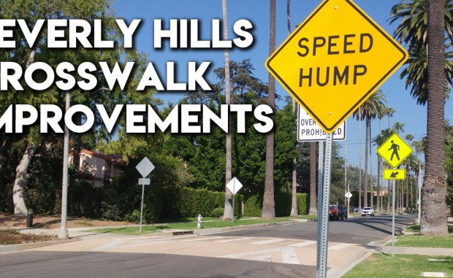 Beverly Hills Raised Crosswalk