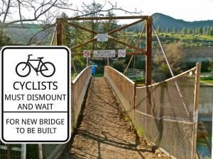 Horse Bridge with new sign