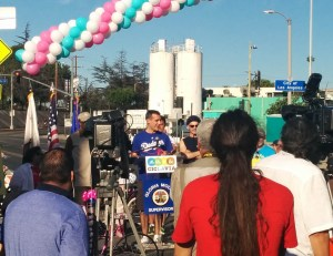 Do you see Molina at CicLAvia? She's lurking on the left...in the shadows...