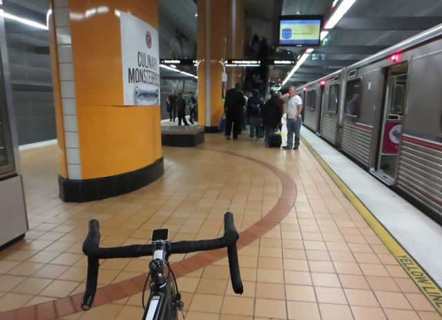Give some space when exiting the train.