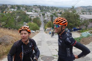 Expect to be breathing heavily while Phil smiles for this Gran Fondo!