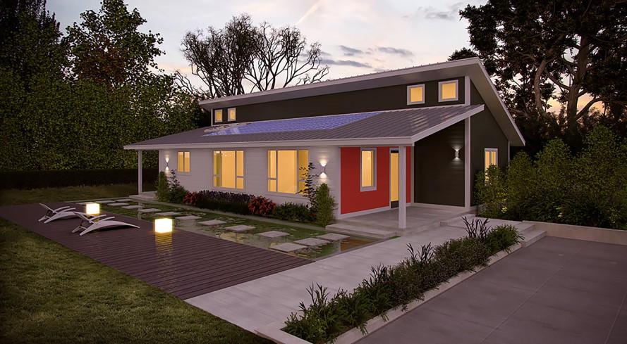 Casa pré-fabricada que produz toda a sua própria energia custa US$ 75 mil