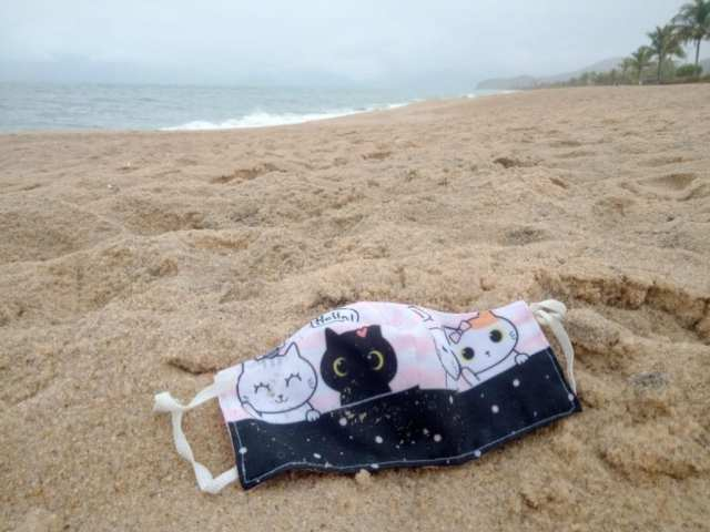 máscaras nas praias