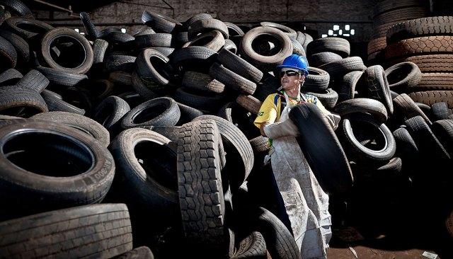 coleta pneus reciclagem