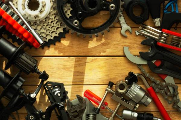 Bicycle repair, replacement of spare parts
