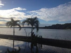 Lago Petén-Itza en Flores (Guatemala).