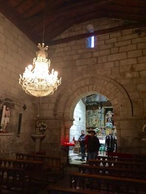 Interior de Santa María do Castelo