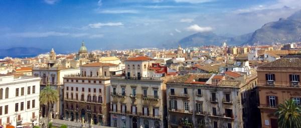 Palermos dende os tellados da Catedral