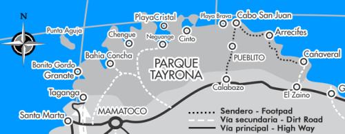 Mapa P.N. Tayrona