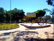 A estação de exercícios é um dos atrativos para os frequentadores da praça.